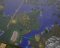 Looking Down on my world 1 - minecraft photo