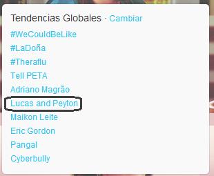 Lucas and Peyton trending