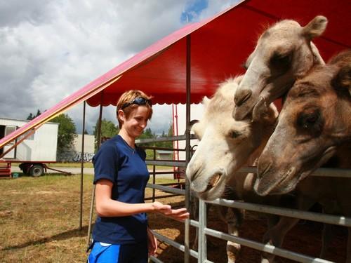 Martina Sablikova and camels