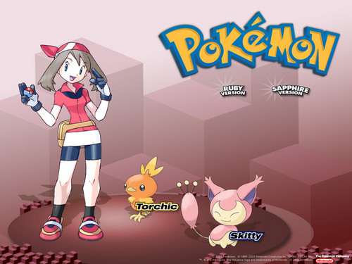 pokemon wallpaper possibly containing anime titled May!!