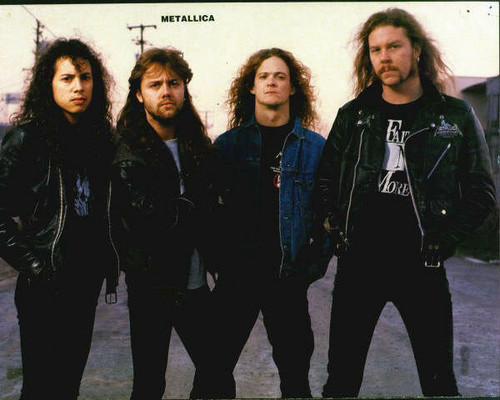 80's music wallpaper with a business suit and a well dressed person entitled Metallica ♥