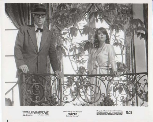 Michael Caine and Natalie in Peeper, 1975