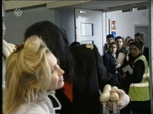Michael kissing Kathy Hilton