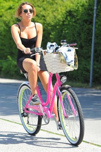 Miley Cyrus Bike Ride