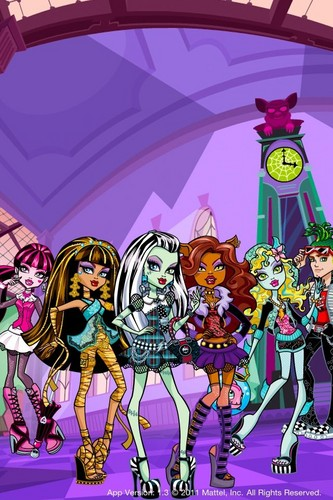 Monster High kertas-kertas dinding