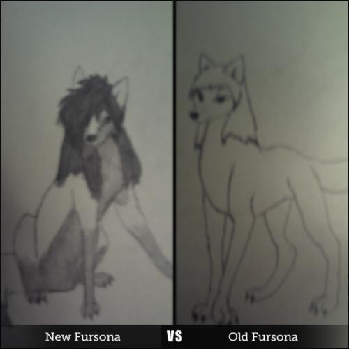 My New vs Old Fursona