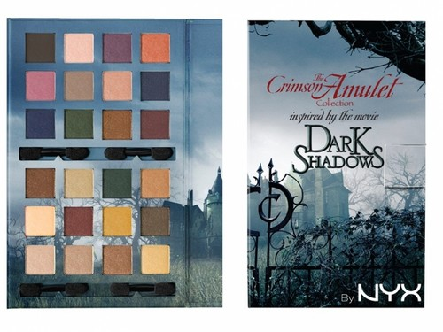 Tim Burton's Dark Shadows wallpaper probably with a sign titled NYX offers Dark Shadows-inspired makeup palette