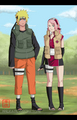 Naruto and Sakura - naruto-shippuuden photo