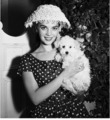 Nat and her poodle dog Morningstar