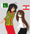Pakistan & Lebanon - hetalia-fan-characters photo