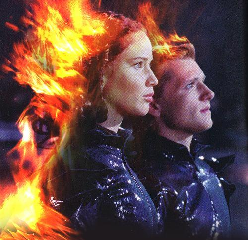 Peeta and Katniss...♥ - peeta-mellark-and-katniss-everdeen photo