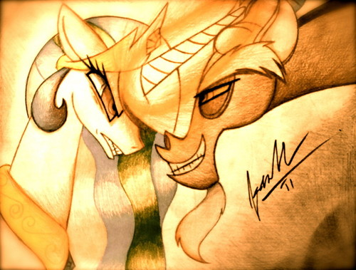 Princess Celestia and Discord
