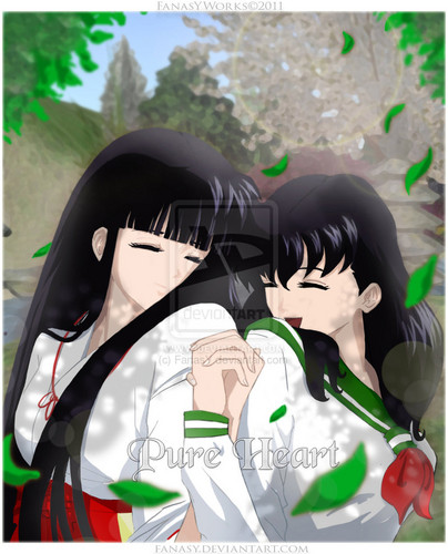 Pure Heart_ Kikyo x Kagome higurashi (inuyasha)