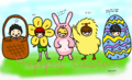 SHINee Chibi Easter Fanart