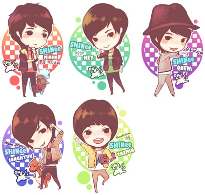 Shinee wallpaper titled SHINee Cute Chibi