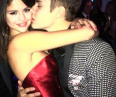 Sel in the birthday of Justin