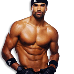 Shemar Moore karatasi la kupamba ukuta containing a six pack and a hunk titled Shemar