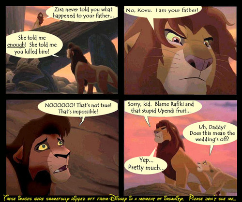 The Lion King پیپر وال with عملی حکمت titled Simba is Kovu's father?