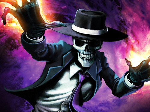 Skulduggery Pleasant wallpaper containing a fedora, a snap brim hat, and a campaign hat titled Skul