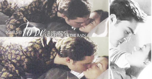 Some say love is hearing laughter in the rain....