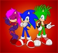 Sonic,Manic,Sonia. Sonic Underground.  - sonic-the-hedgehog photo