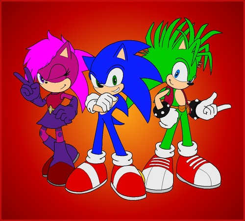 Sonic the Hedgehog wallpaper containing anime called Sonic,Manic,Sonia. Sonic Underground.