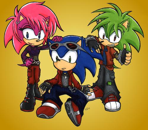 Sonic,Manic,Sonia. Sonic Underground.