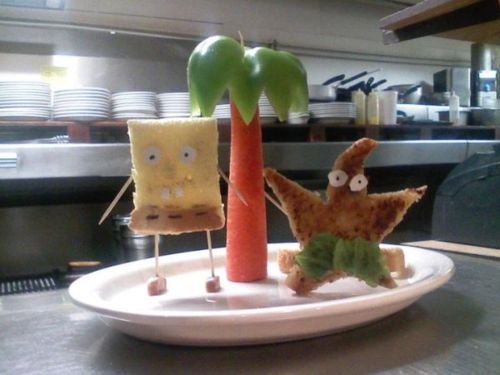 SpongeBob and Patrick Made Out of comida