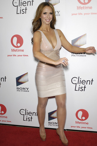 Jennifer Love Hewitt wallpaper possibly containing bare legs, hot pants, and a cocktail dress entitled The Client List Premiere In West Hollywood [4 April 2012]