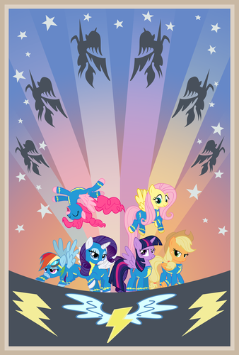 The Mane 6 as Wonderbolts!