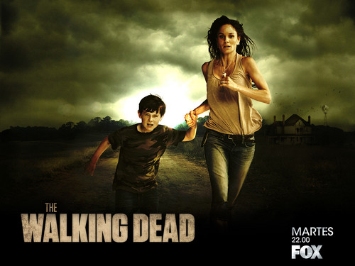 The Walking dead wallpaper probably with long trousers and a concerto entitled Lori & Carl Grimes