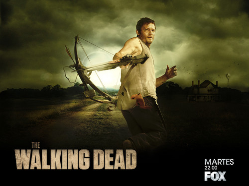 The Walking Dead پیپر وال containing a رائفل مین, رائفل titled Daryl Dixon
