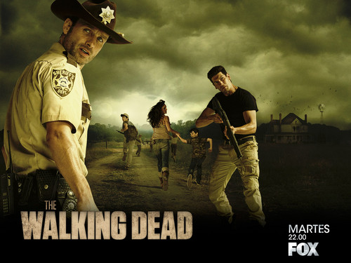 The Walking dead wallpaper containing a fedora, a boater, and a campaign hat called The Walking Dead