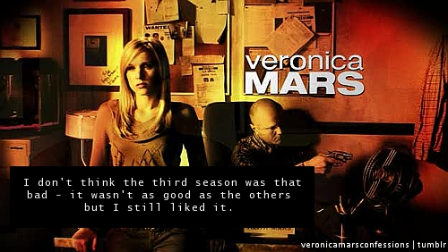 Veronica Mars achtergrond containing anime called Veronica Mars Confessions