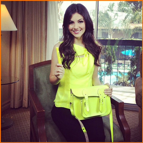 Victoria Justice Dressed Up in Bright Yellow