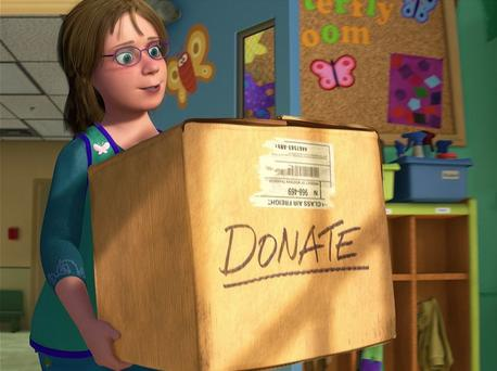 Disney Females wolpeyper with a packing box called Woman in Toy Story 3