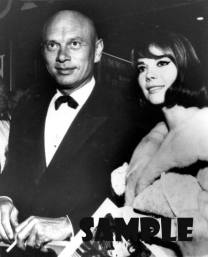 Yul Brynner and Natalie Wood