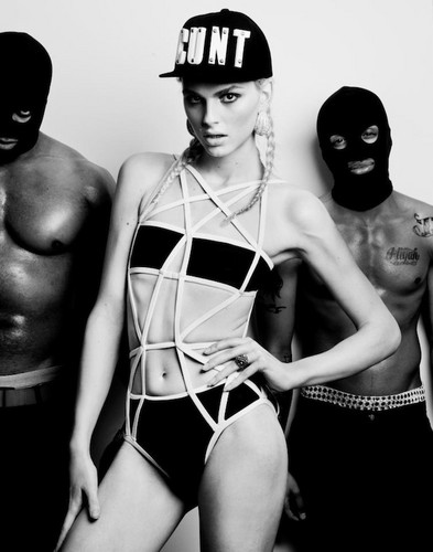 andrej pejic wallpaper probably with a ski mask called beautiful boy