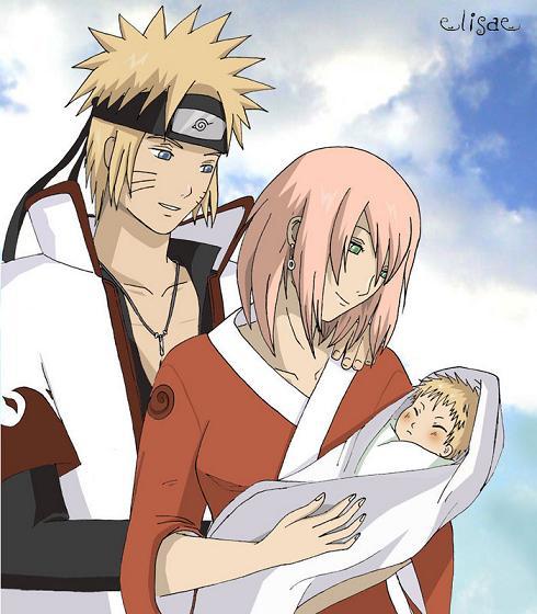 Naruto and Sakura Baby