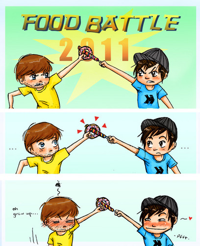 Ianthony wallpaper possibly containing anime titled food battleLOL