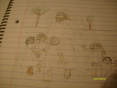 jesus playing with children