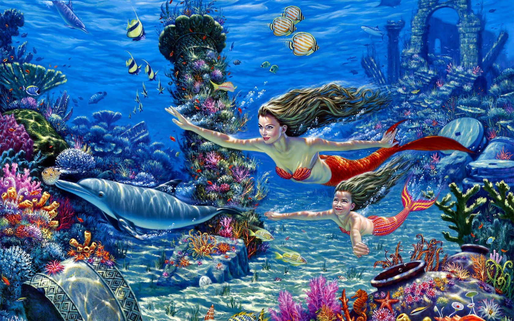 wallpaper beautiful mermaid pictures-#28