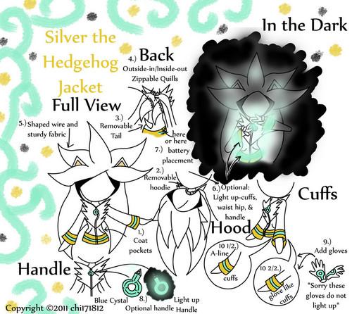 silver the hedgehog जैकेट