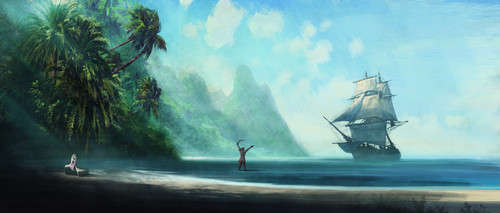 (Island Princess)the Artwork by Walter Martishus