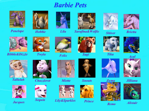 Barbie Movies wallpaper probably containing anime called ิbarbie pets