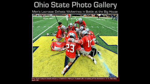 2012 MEN'S LACROSSE OSU DEFEATS TSUN