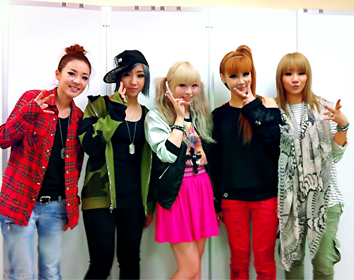 2NE1 Обои probably with a well dressed person, long trousers, and an outerwear titled 2NE1 with Kyary Pamyu Pamyu