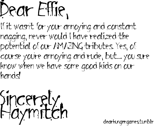 A Letter From Haymitch....