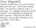 A Letter To Haymitch