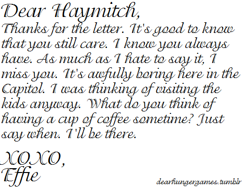 A Letter To Haymitch...